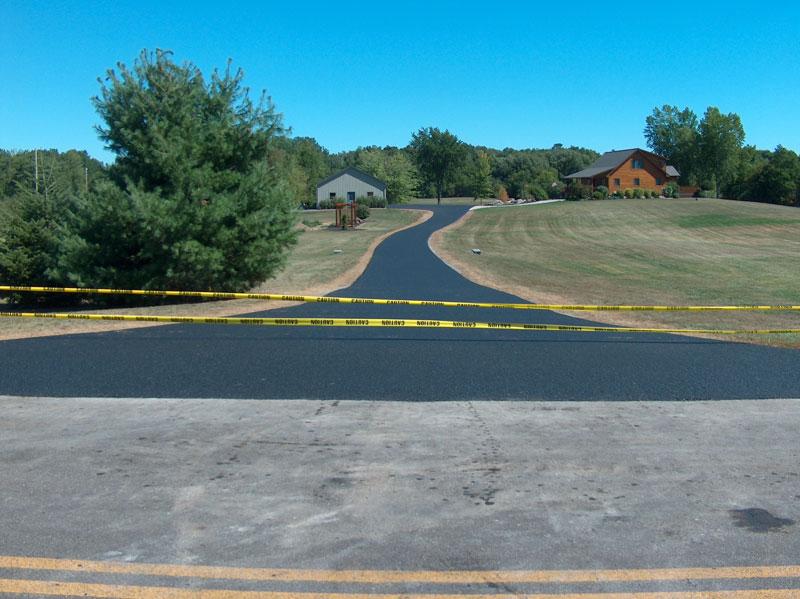 long driveway asphalt paving